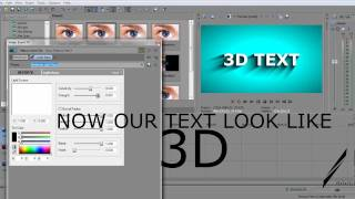 MAKE 3D TEXT IN SONY VEGAS PRO 11