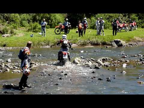 Lesotho – Riders For Health tour – Nov09 – River crossing