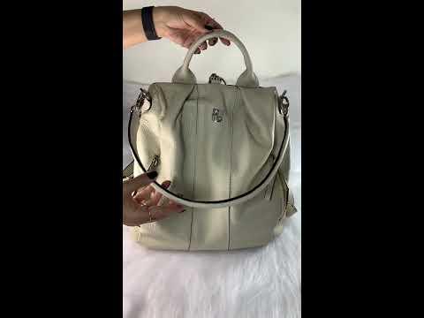 BOLSA MOCHILA MILÃO Bolsa mochila branca / off white em couro legítimo