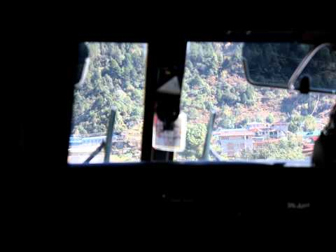 Landing at Lukla Airport, Nepal – Nov 2011