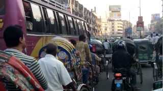 Dhaka City of rickshaws and mega traffic jams TOTAL MADNESS i like!  2 /3