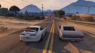 GTA V PC fast and furious 7 Ending scene