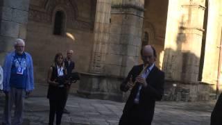 Carlos Núñez in Santiago de Compostela
