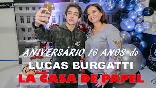 Decoração Festa La Casa de Papel - Aniversário 16 anos Lucas Burgatti