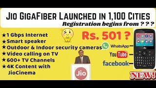 Jio GigaFiber broadband for 1,100 cities with JioTV & Jio Phone 2.