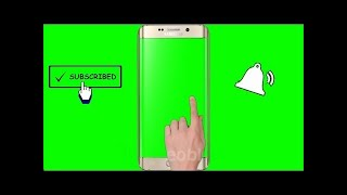 No Copyright Green Screen Hand, Mobile, Subscribe, Bell Intro, Mobile, 2019 YouTube