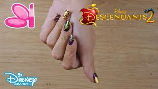 Descendants 2 | Mal's Nail Art Tutorial | Official Disney Channel UK