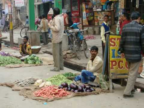 Street selling trade in India and Nepal.