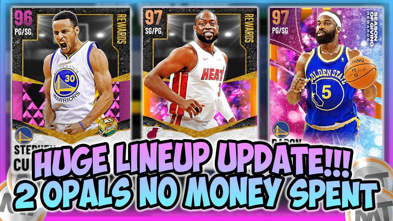 LogicLookss - NBA2K21 - CRAZY LINEUP UPDATE!! WE GOT 2 FREE OPALS!! NO MONEY SPENT GOD SQUAD UPDATE!!
