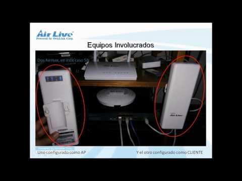 Airlive Airmax5 Enlace Punto a Punto Configuracion Castellano
