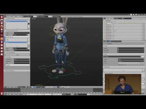 BleRiFa toolset for rigging and animation