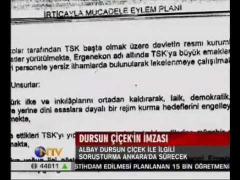 Albay Dursun Çiçek dosyası Ankaraya gönderildi 19.8.2009