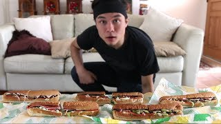 5 Subway Footlong Challenge *Revisited* (Record Attempt)