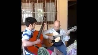 Serafín Ullon y Nicolás Samudio ejecutando Nelly
