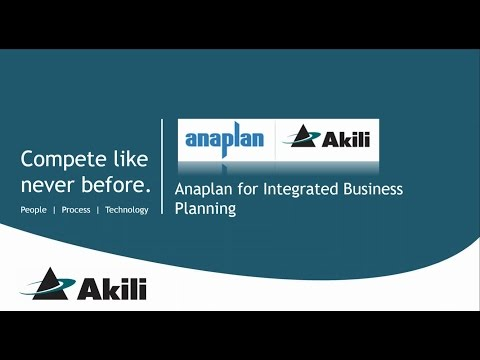 Anaplan Integrated Business Planning Demo with Akili
