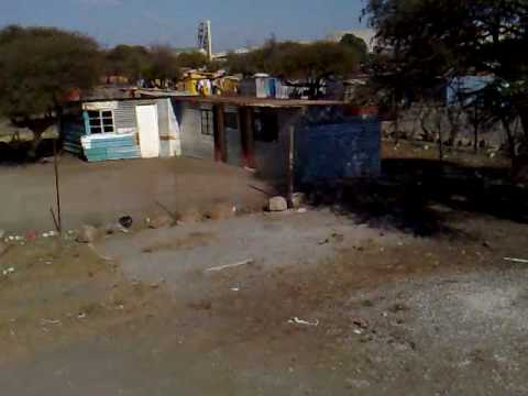 Pan of the Siza Squatter Camp