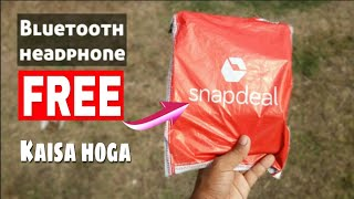 (Snapdeal,Amazon,Flipkart Free shopping tricks)Best Free Bluetooth Headphone Unboxing in India 2019