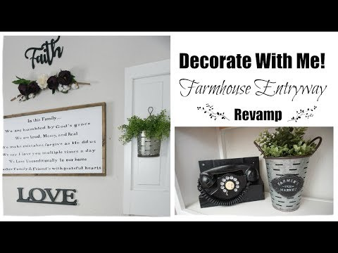 DECORATE WITH ME | FARMHOUSE ENTRYWAY MAKEOVER | Momma from scratch
