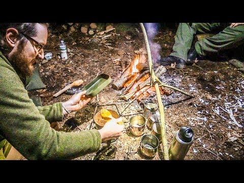 Bushcraft - Maple Beans Dinner   Camp Cook