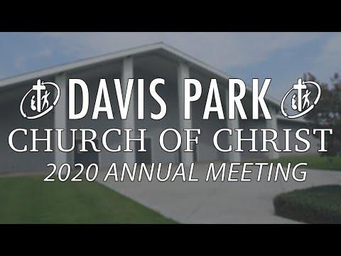 Davis Park Church of Christ Annual Meeting 2020