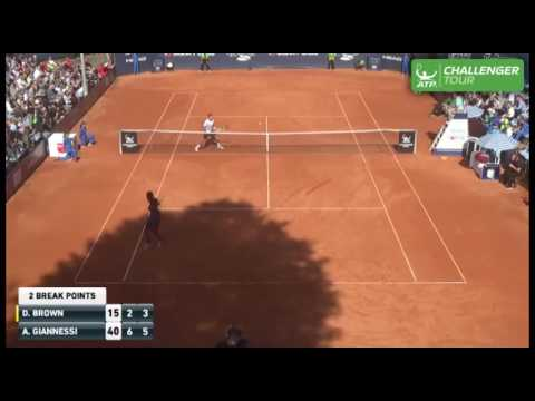 Dustin Brown Strikes Hot Shot With Back Turned At Szczecin Challenger