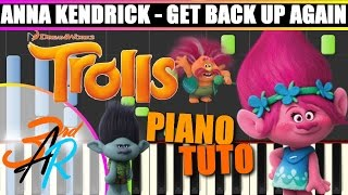 GET BACK UP AGAIN (Anna Kendrick || TROLLS) Piano Tutorial / Cover SYNTHESIA + MIDI & SHEET