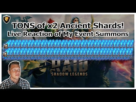 RAID Shadow Legends | TONS of x2 Ancient Shards! | Event Live Reaction Summons