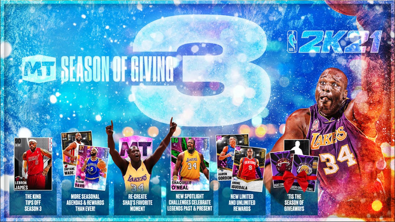 DBG - NBA 2K21 MyTEAM SEASON 3 IS HERE!! SEASON OF GIVING DEV BLOG!! ALL REWARDS AND NEW EVENTS!!
