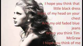 Taylor swift - Tim McGraw Lyrics