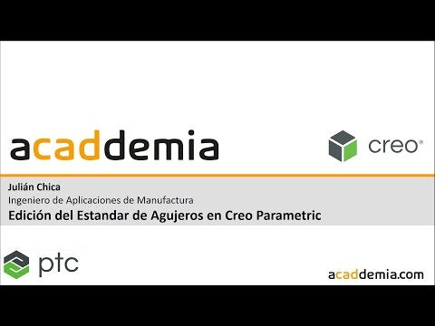 Edición del Estandar de Agujeros en Creo Parametric - Edit Hole Standard