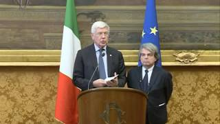 Roma - Le consultazioni di Paolo Gentiloni - Forza Italia (13.12.16)