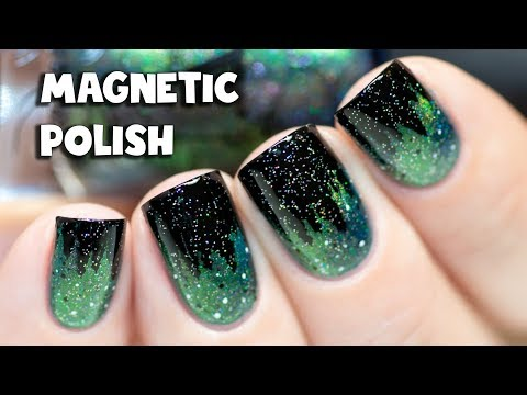 How to Apply Magnetic Nail Polish + Simple Stamping