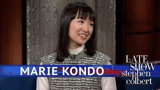 Marie Kondo Tidies Up Stephen's 'Late Show' Desk