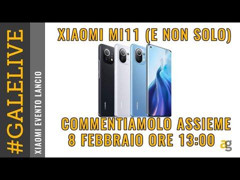 PRESENTAZIONE XIAOMI Mi11 LIVE commentia …