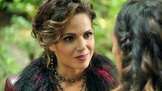 Once Upon A Time 7x03 Regina Tells Of Cinderella To Believe In Self - Regina Lies To Henry And Tiana