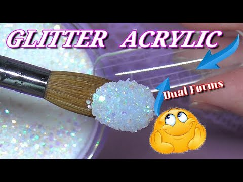Testing Glitter Acrylic In Dual Forms - By ModelOnes | ABSOLUTE NAILS