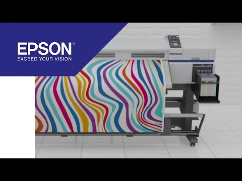 64-inch digital dye sublimation printer for reliable, high-quality textile printing | Epson