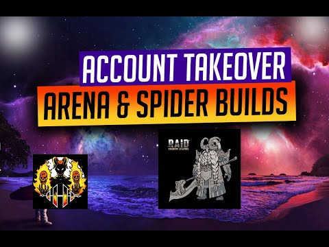 RAID: Shadow Legends | Account Takeover Auto Spider 20 & ARENA BUILD! Sponsored by Dragon Champions