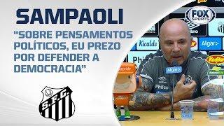 EMPATE NA VILA! Santos sai na frente, mas São Paulo empata. Veja entrevista de  Sampaoli ao vivo!