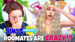 CRAZY moving in party! (The Sims 4 DISCOVER UNIVERSITY! 👩🏼🎓 #5)