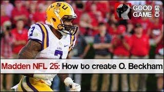 Madden NFL 25: How to Create Odell Beckham Jr.