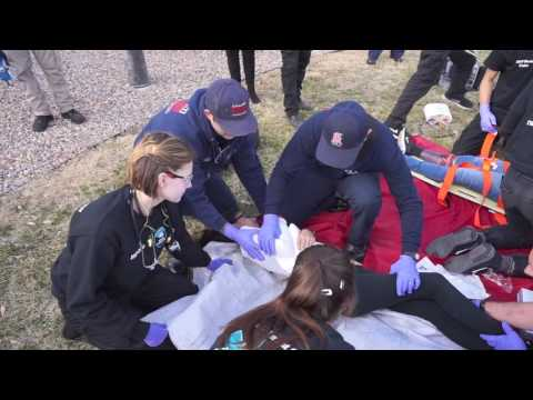 Albuquerque Fire Department Mock Disaster Practice. Video by Adolphe Pierre-Louis/Journal