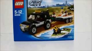 Lego SUV with watercraft-60058 : Review (stop motion)
