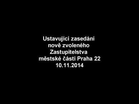 Ustavující zasedání nově zvoleného Zastupitelstva městské části Praha 22