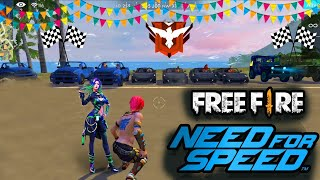 NFS Race in Free fire || Free fire fun match || free fire WTF gameplay|| Run gaming