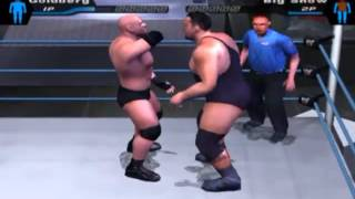 Goldberg's Perfect JACKHAMMER in WWE Smackdown Here Comes the Pain