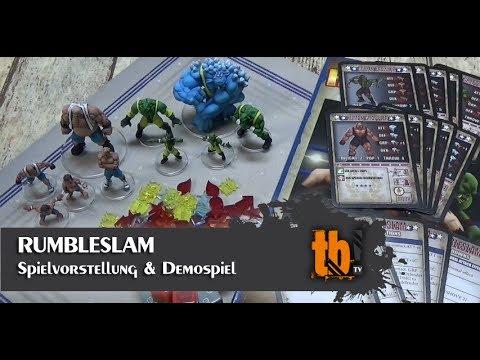 Rumbleslam (Fantasy Wrestling) - Unboxing, Erläuterungen & Demospiel [TB-TV #97]