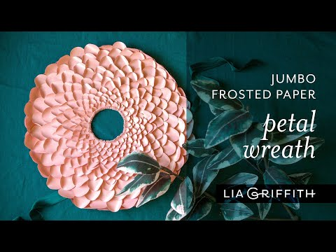 DIY Frosted Paper Petal Wreath