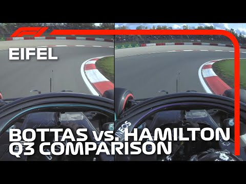 Bottas and Hamilton Qualifying Laps Compared | 2020 Eifel Grand Prix