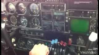 Pouso da cabine do avião